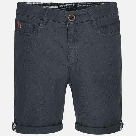 Pantalón corto en lino de niño color Sombra
