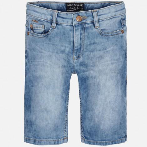 Pantalón corto niño vaquero regular fit color Básico
