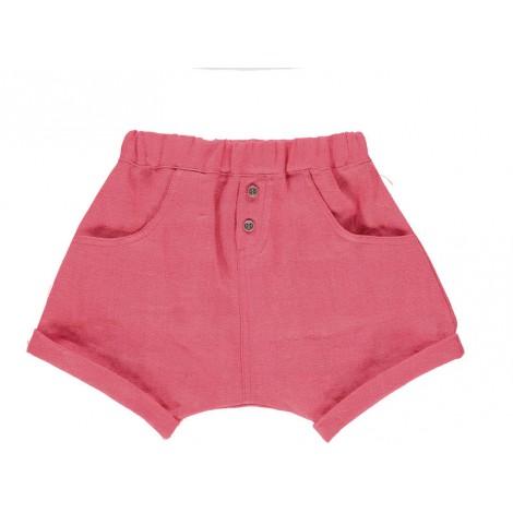 Pantalón bebé BAGGY CORTO algodón rojo