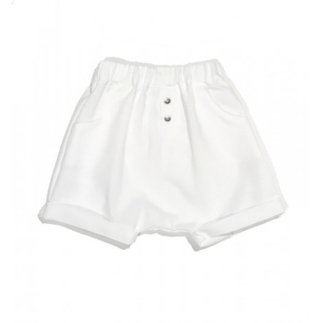 Pantalón bebé BAGGY CORTO algodón blanco