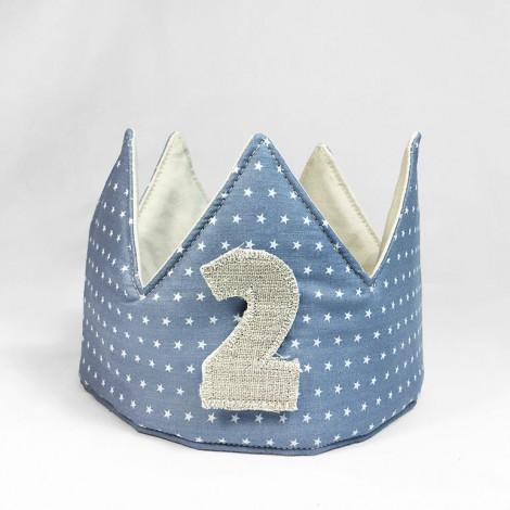 corona cumpleaños blue stars