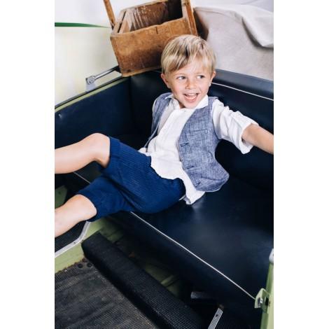 Camisa blanca de lino para niño OFFICINA 51