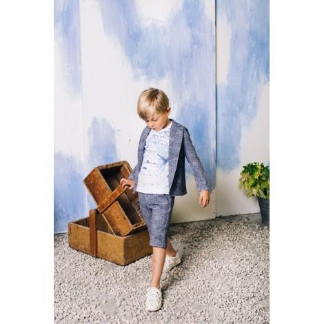 Pantalón short niño de vestir AZUL