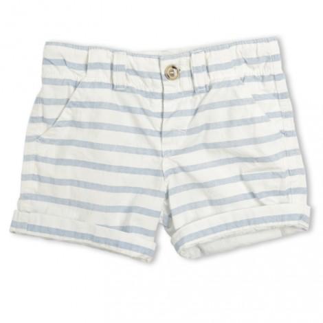 Pantalón short niña Basia ralla azul