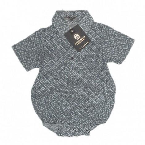 Body camisa bebé Lino Grower azul estampado