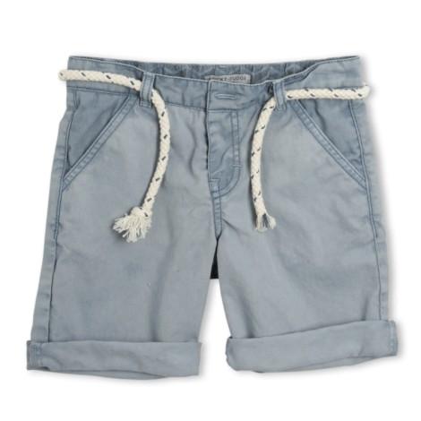 Pantalón short niño Nial azul ceniza con cinturón