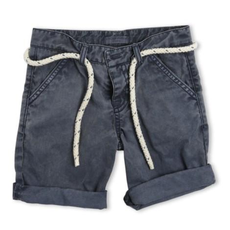 Pantalón short niño Nial azul marino con cinturón