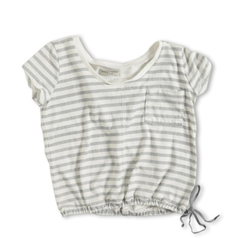 Camiseta infantil Taylor raya gris