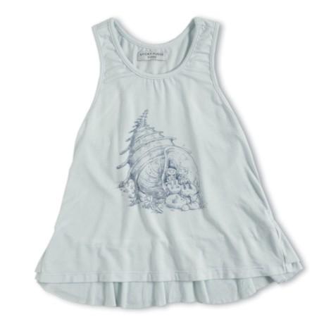 Camiseta tirantes niña con volantes Vicky Tank cloud