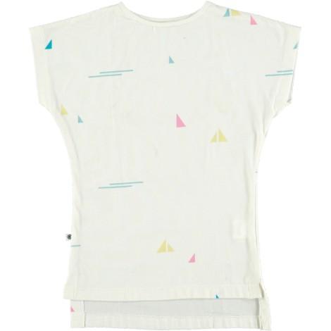 Camiseta infantil M/C LONG BOAT WHITE blanca velero
