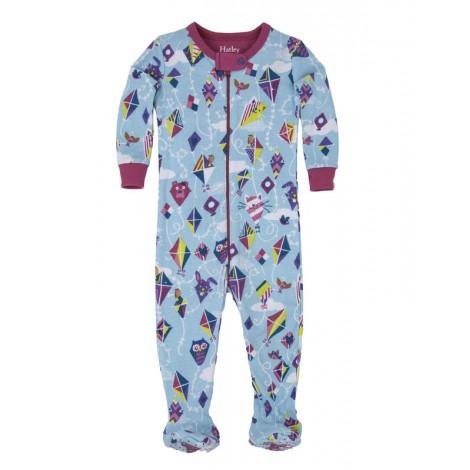Pijama niña entero con pie KITE celeste m/l algodón