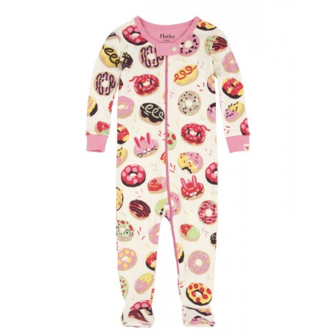 Pijama niña entero con pie SWEET DONUTS m/l algodón
