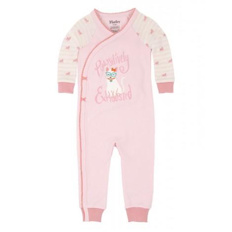 Pijama niña entero sin pie COOL CAT rosa m/l algodón