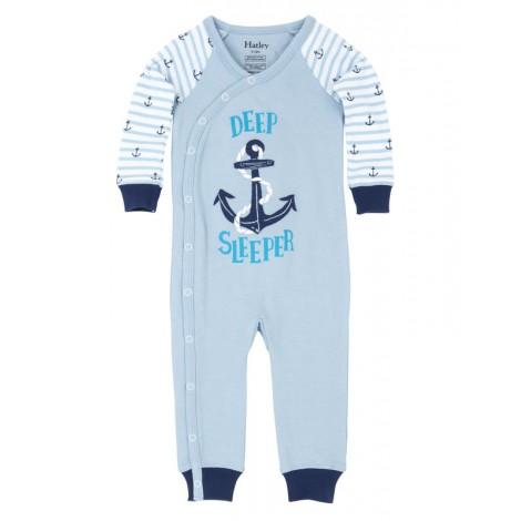 Pijama bebé niño sin pie DEEP SLEEPER azul m/l algodón