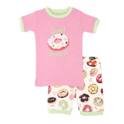 Pijama niña 2 piezas M/C SWEET DONUTS algodón