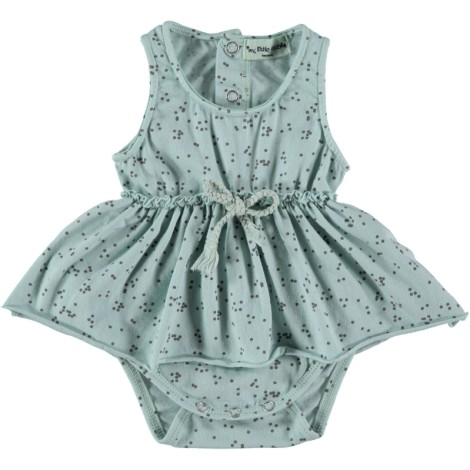 Vestido body bebé SERIE DOTS color menta