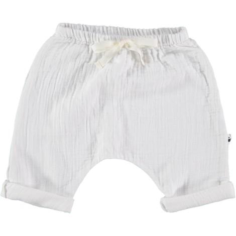 Pantalón bebé algodón blanco SERIE SENA