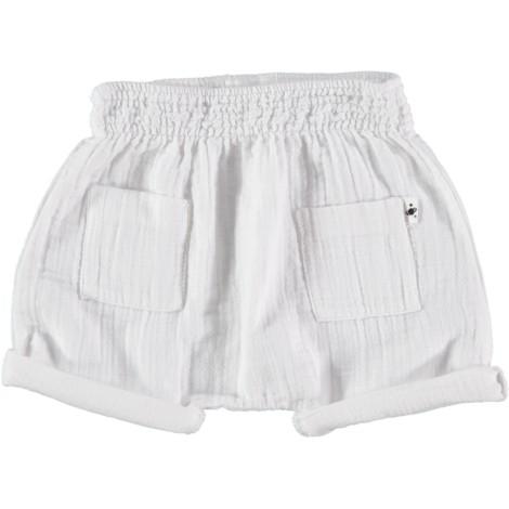 Pantalón short bebé de algodón blanco SERIE SENA