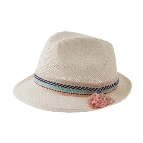 Sombrero infantil niña verano cinta azul STROW HAT 2