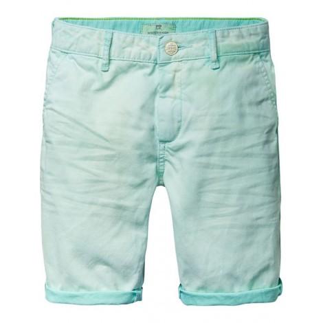 Pantalón shorts niño chinos  lavados seafoam