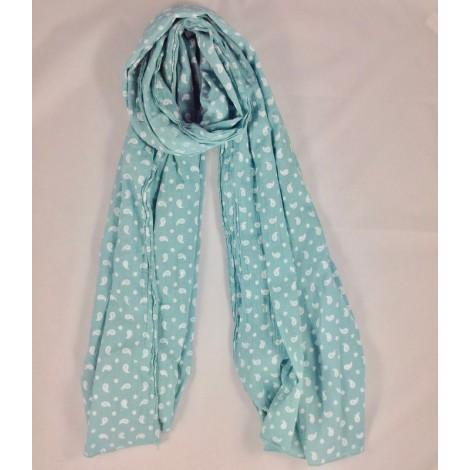 Pañuelo foulard infantil bambula CACHEMIR verde