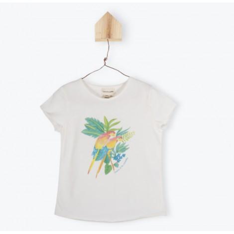 Camiseta infantil M/C LUCIA PARROTS