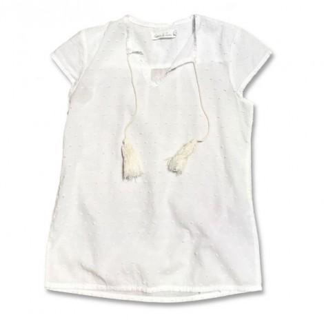 Blusa niña blanca PLUMETI M/C