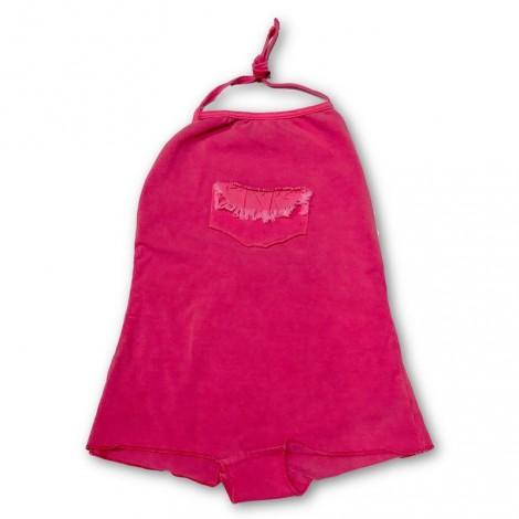 Bañador niña retro bolsillo en fresa