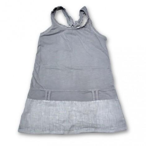 Vestido tirantes niña PLAYERO gris
