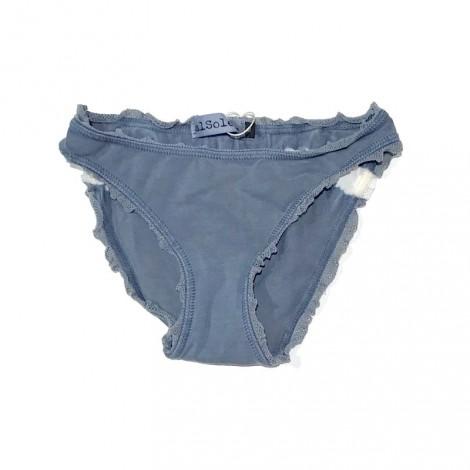 Bikini braguita niña puntilla azul vintage