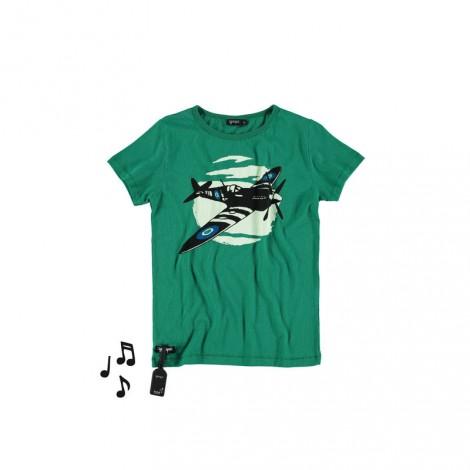 Camiseta infantil sonido AIRCRAFT  (Avioneta verde)