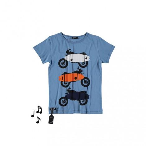 Camiseta infantil sonido SURF MOTO (RETRO BLUE)