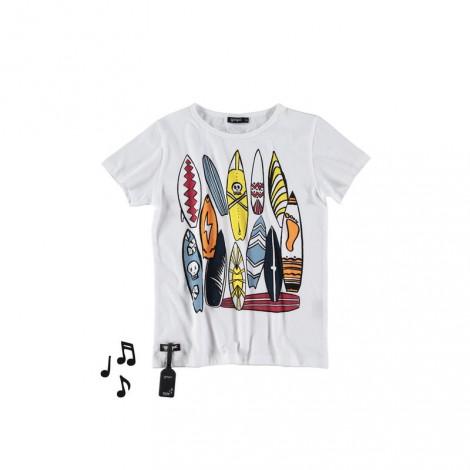 Camiseta infantil sonido SURFBOARDS White