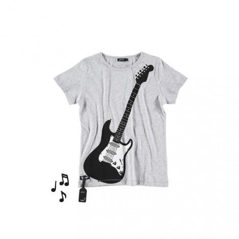 Camiseta infantil sonido AIR GUITAR (MELANGE)