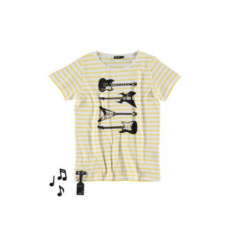 Camiseta infantil sonido GUITARS (STRIPED)