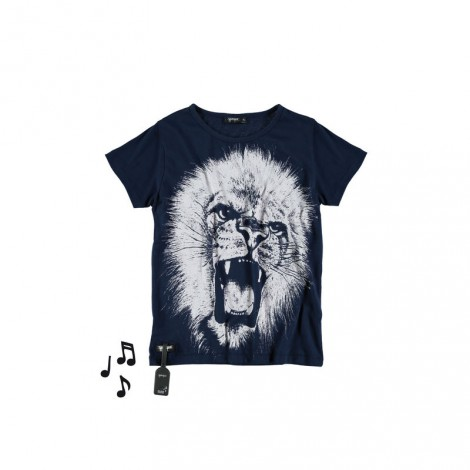 Camiseta infantil sonido LION (DEEP BLUE)