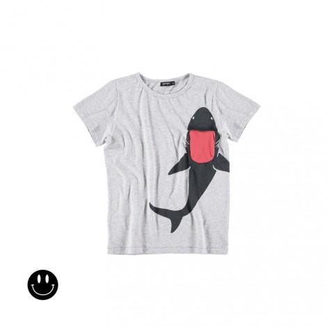 Camiseta infantil SHARK POCKET (MELANGE)