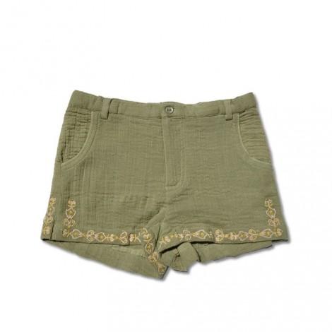 Pantalón short niña PATTI (KAKI) con bordados