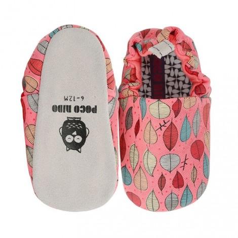 Zapatitos bebé PINK LEAVES Poco Nido mini shoes