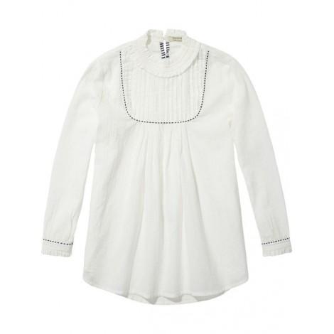 Camisa niña blanca cuello volantes