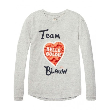 Camiseta niña M/L gris TEAM BLAUW Corte A