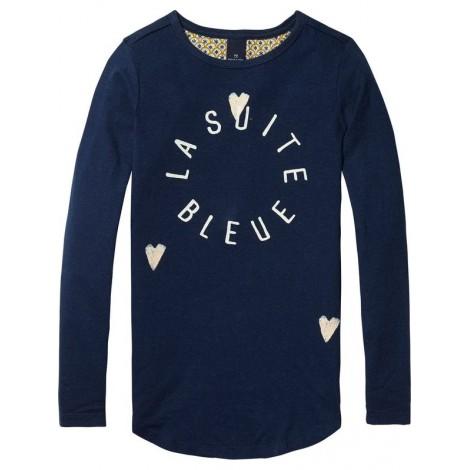 Camiseta niña M/L azul LA SUITE BLEUE