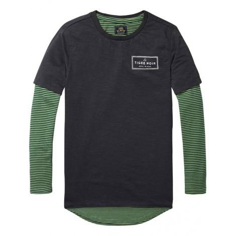 Camiseta niño 2 en 1 TIGRE NOIR