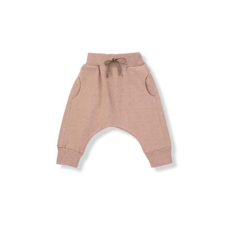 Pantalón bebé ancho ADRIAN rosa bolsillos