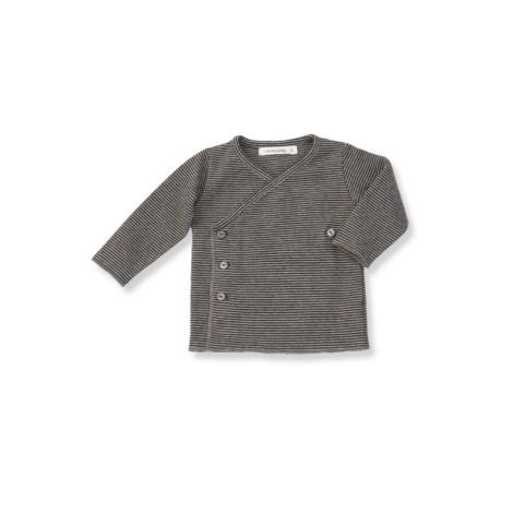 Camiseta jubón primera puesta ALBA rayitas antracita