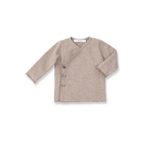 Camiseta jubón primera puesta ALBA rayitas rosa