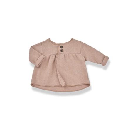 Chaqueta bebé niña ANAIS felpa suave rosa