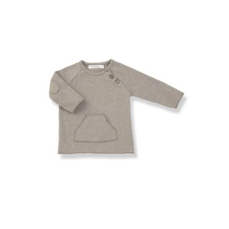 Camiseta bebé M/L CONRAD beige bolsillo ycoderas