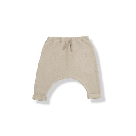 Pantalón bebé ancho JACOB felpa suave beige