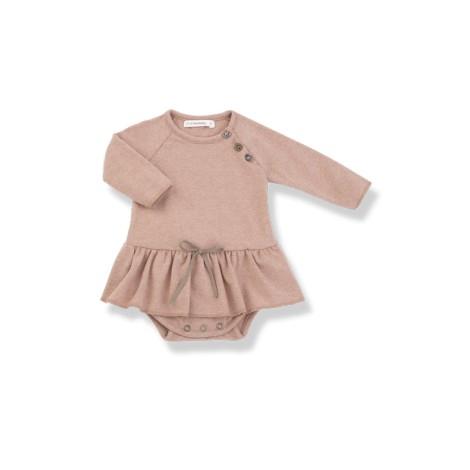 Vestido bebé LIZ BODY rosa lazo